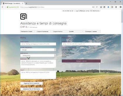 Supertext Corporate esempio BKW