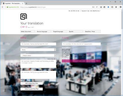 Supertext corporate platform example Ringier