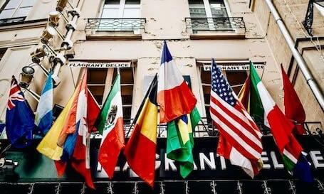 Flaggen Sprachnavigation
